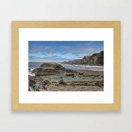 Hartland Quay Coast Framed Art Print