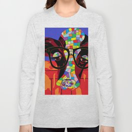 Spectacled Cow Long Sleeve T-shirt