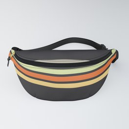 Colorful Retro Stripes Black IV Fanny Pack