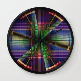 Plaid Movement 001 - Geometric - Unique Plaid - Colorful Plaid Wall Clock