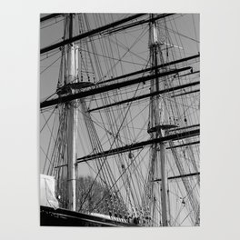 Masts and Rigging of the Cutty Sark Poster