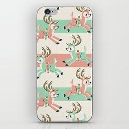 Candy Cane Reindeer iPhone Skin