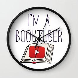 I'm a Booktuber Wall Clock