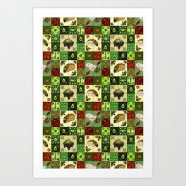 Mexican Restaurant Tiles Art Print