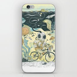 Cycling in the Deep iPhone Skin