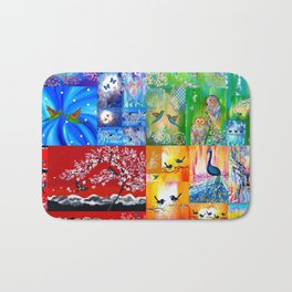 Rainbow Colors Bath Mat