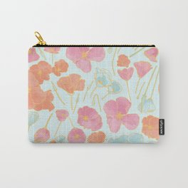 Poppies | Pink Peach Mint Palette Carry-All Pouch