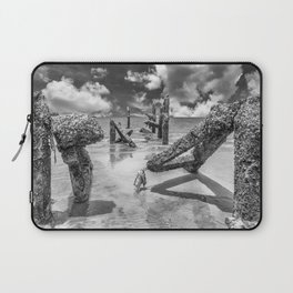 Stumps of an old pier in Hua Hin Laptop Sleeve