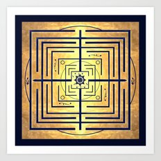 Knowledge Labyrinth Art Print