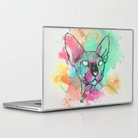 sphynx Laptop & iPad Skins featuring Watercolor Sphynx by Zeke Tucker