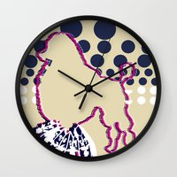 disco Wall Clocks featuring disco by Wyldbloom