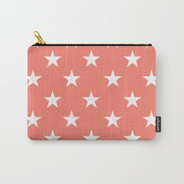 Stars (White/Salmon) Carry-All Pouch