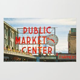 Seattle Pike Place Market Rug
