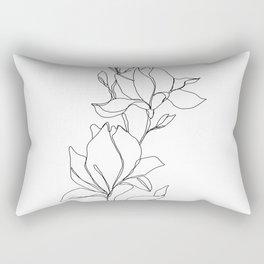 Botanical illustration line drawing - Magnolia Rectangular Pillow