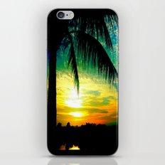 Summer Sunrise - Florida - Palm Trees  iPhone & iPod Skin