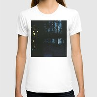 northern lights T-shirts featuring City Lights/ /Northern Lights by Katie Mae Dickinson