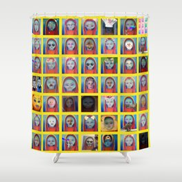 Art that keeps on giving (SNAP THIS) Shower Curtain