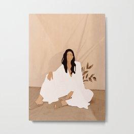 Sitting on the Floor Metal Print
