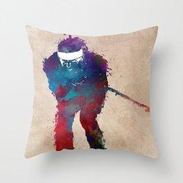 Biathlon sport art 2 #biathlon #sport Throw Pillow