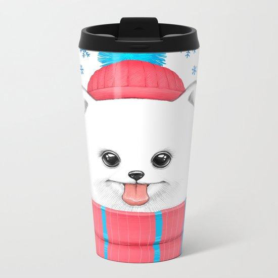 winter dog Metal Travel Mug