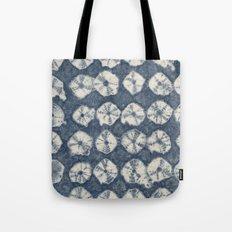 Indigo Spiderweb Shibori Tote Bag