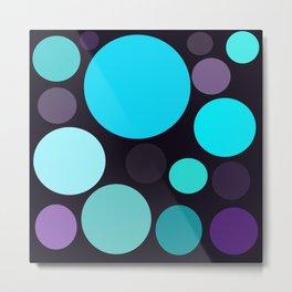 Blue and Purple Dots Metal Print