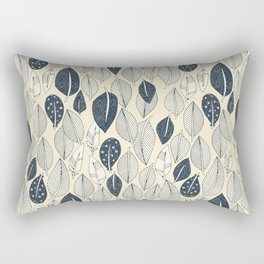 leaves and feathers cream Rectangular Pillow
