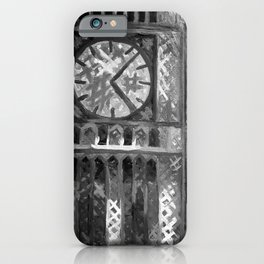 Big Ben by Lu, Black and White iPhone Case