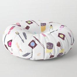 Lets Make up Vibrant Floor Pillow