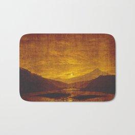 Caspar David Friedrich / Mountainous River Landscape Bath Mat