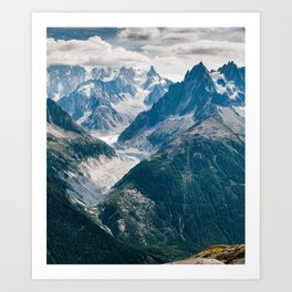 Chamonix, France #society6 #decor #buyart Art Print