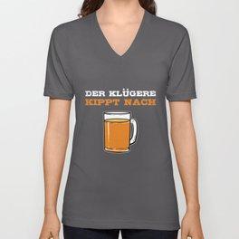German Beer Garden Hipster Party Monster Germany Unisex V-Neck