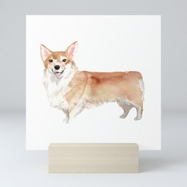 Cute Corgi dog breed illustration Mini Art Print