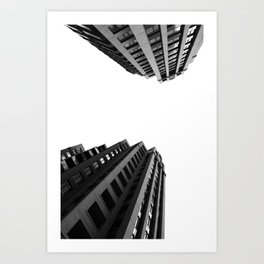 Architecture Minimalism Black and White Photography Art Print