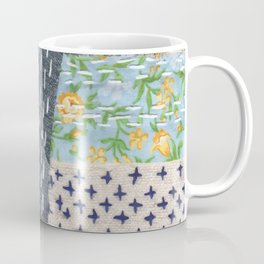Boro Kantha Textile Art 001 Coffee Mug