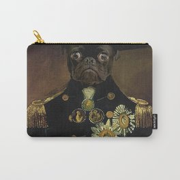 Pug Sea Captain Portrait Painting | Dog Lovers! Carry-All Pouch