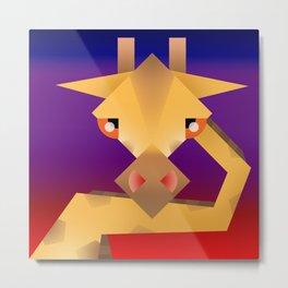 Geometrical giraffe Metal Print