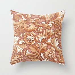Golden Rose Treasure Throw Pillow