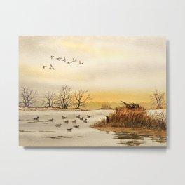 Hunting Pintail Ducks Metal Print