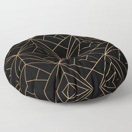 Elegant geometric copper black Floor Pillow