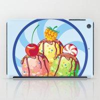 ice cream iPad Cases featuring Ice cream by LaDa