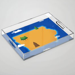 Iowa Island Acrylic Tray