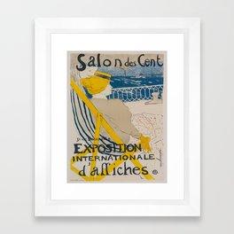 Vintage poster - Salon des Cent Framed Art Print