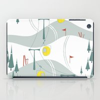 ski iPad Cases featuring Retro Ski by Julie's Fabrics & Thingummies