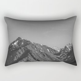 California's Sierra Mountains - B & W Rectangular Pillow