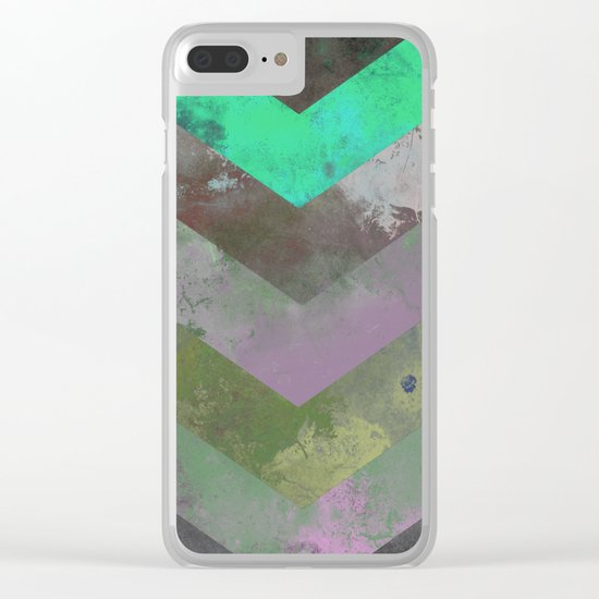 Look Down (Abstract, pastel, geometric artwork) Clear iPhone Case