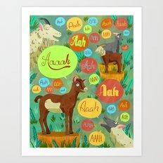 Screaming Goats Art Print