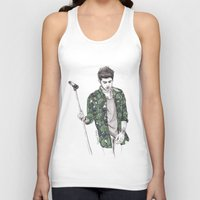zayn Tank Tops featuring Zayn Floral by Coconut Wishes