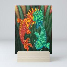 Koi Fish Lotus Mini Art Print