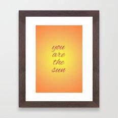 you are the sun Framed Art Print